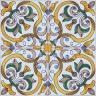 2419 Portuguese handmade majolica tile