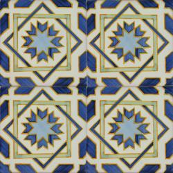 2413 Portuguese handmade majolica tile