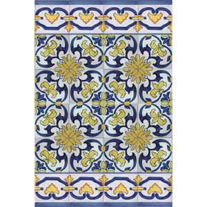 2513 Portuguese Spanish Tiles Azulejo Wall Decorative