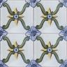 2542 Portuguese handmade majolica tile