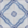 2544 Portuguese handmade majolica tile