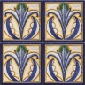 ASK 2549 Italian hand painted maiolica tiles