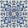 2502 Portuguese handmade majolica tile