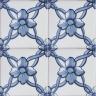 2605 Portuguese handmade majolica tile