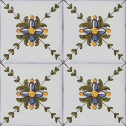 2606 Portuguese handmade majolica tile