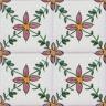 2607 Portuguese handmade majolica tile