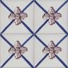 2609 Portuguese handmade majolica tile