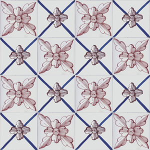 2609 Portuguese Bicesse Tiles from Portugal - Traditional decorative hand painted ceramic azulejo
