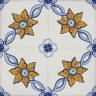 2611 Portuguese handmade majolica tile