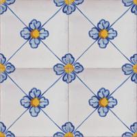 2613 Portuguese handmade majolica tile