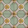 2615 Portuguese handmade majolica tile