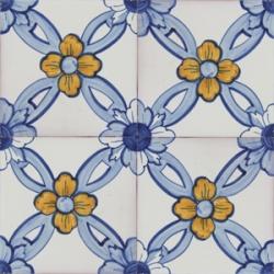2617 Portuguese handmade majolica tile