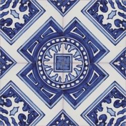 2703 Portuguese hand painted majolica tile
