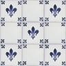 2705 Portuguese handmade majolica tile