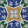 2506 Portuguese handmade majolica tile