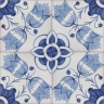 2801 Portuguese handmade majolica tile