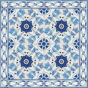2801 Portuguese Bicesse Tiles from Portugal - Traditional decorative hand painted ceramic azulejo