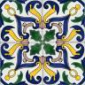 2208 Portuguese handmade majolica tile