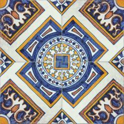 2519 Portuguese handmade majolica tile
