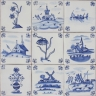 3704 Portuguese Delft loose designs tile
