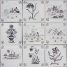 3705 Portuguese Delft loose designs tile