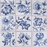 3711 Portuguese XVII Blue Flowers tiles