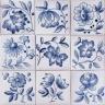 3711 Portuguese XVII Blue Flowers tiles