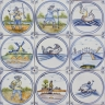 3712 Portuguese Delft loose designs tile
