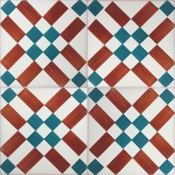 3411 Portuguese handmade majolica tile