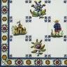 TMP 3902 Portuguese handmade majolica tile