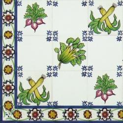 TMP 3904 Portuguese handmade majolica tile