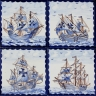 ASK 3926 Portuguese tiles Caravel Nau