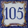 ASK 3938 House numbers letters tile