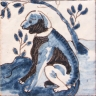 ASK 3968 Portuguese Dog Fronteira Palace tiles