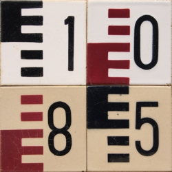 ASK 3979 House number letter tiles