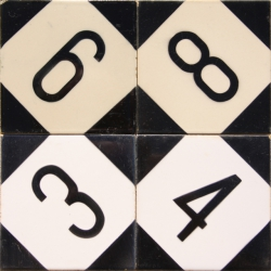 ASK 3980 House number letter tiles