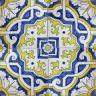 2514 Portuguese handmade majolica tile