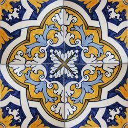 2511 Portuguese Handmade Majolica Tile Portuguese Tiles