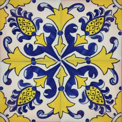 2309 portuguese handmade majolica tile - Decorative Ceramic Tile