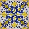 2309 Portuguese handmade majolica tile