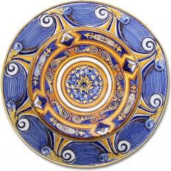 7102 Portuguese Spanish majolica plate