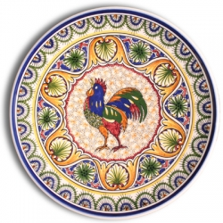 ASK 7212 Portuguese majolica painted plate