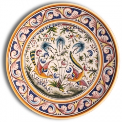ASK 7215 Portuguese majolica painted plate