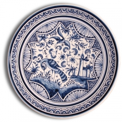 ASK 7216 Portuguese majolica painted plate