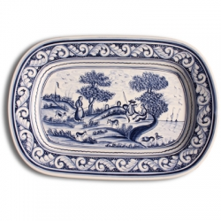 ASK 7217 Portuguese majolica painted plate