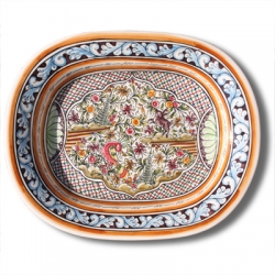 ASK 7219 Portuguese majolica painted plate