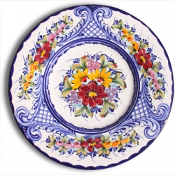 ASK 7232 Portuguese majolica painted plate