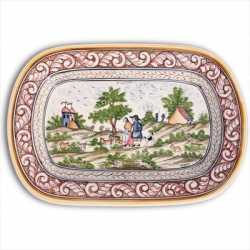 ASK 7234 Portuguese majolica painted plate