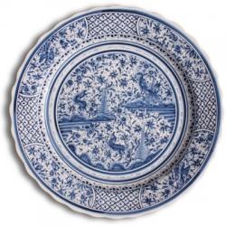 ASK 7235 Portuguese majolica painted plate