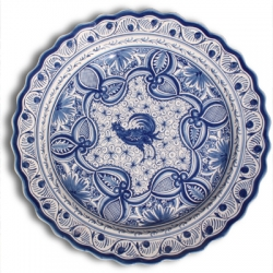 ASK 7236 Portuguese majolica painted plate